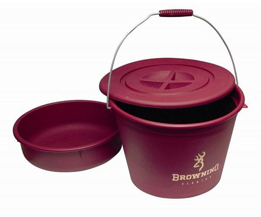 Ведро с крышкой и тазом Browning Groundbait Bucket with Lid and Bowl 30 л