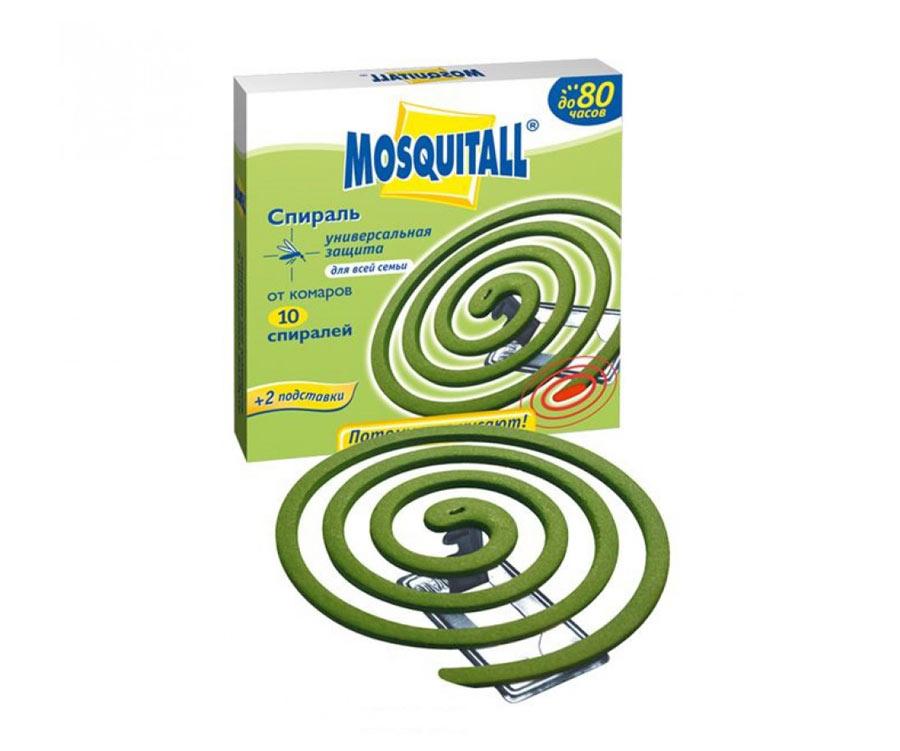 Универсальная защита от комаров Mosquitall спирали 10 шт