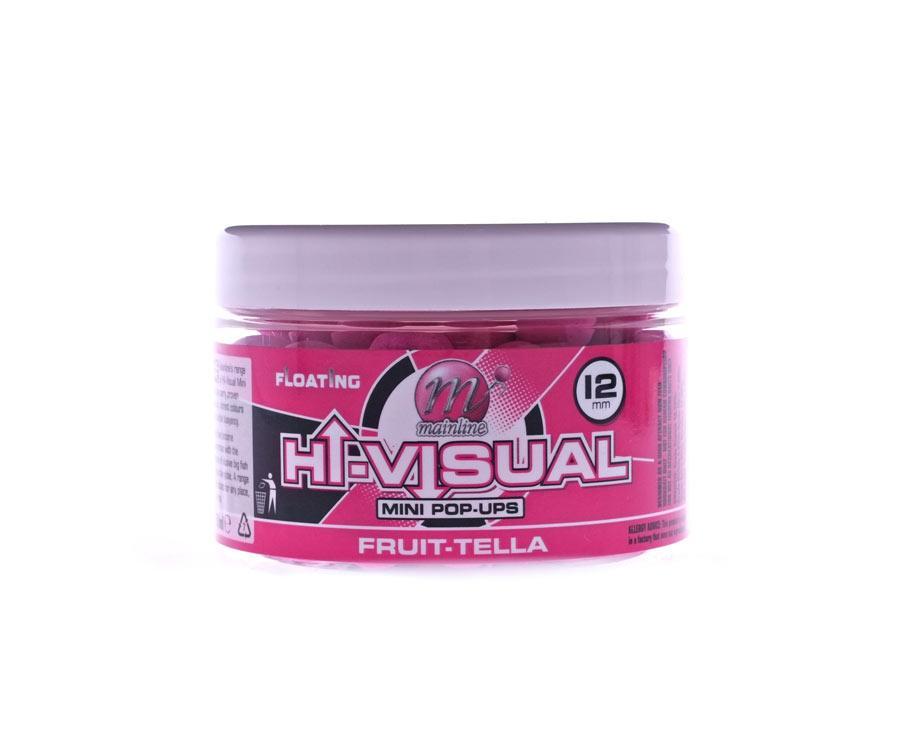 Бойлы Mainline High Vis Mini Pop-Ups Pink Fruittella 12 мм