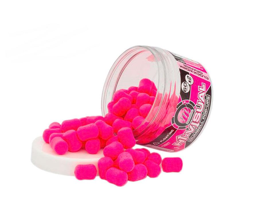 Бойлы Mainline High Vis Dumbell Pop-Ups Pink-Clockwork Orange