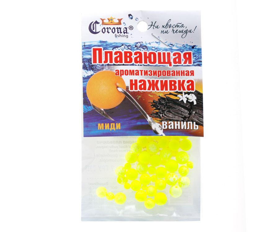Пенопластовые шарики Corona fishing Ваниль (миди)