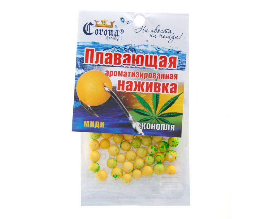 Пенопластовые шарики Corona fishing Конопля (миди)