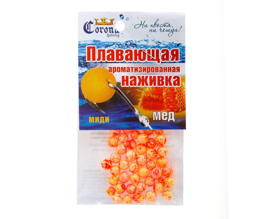 Пенопластовые шарики Corona fishing Мед (миди)