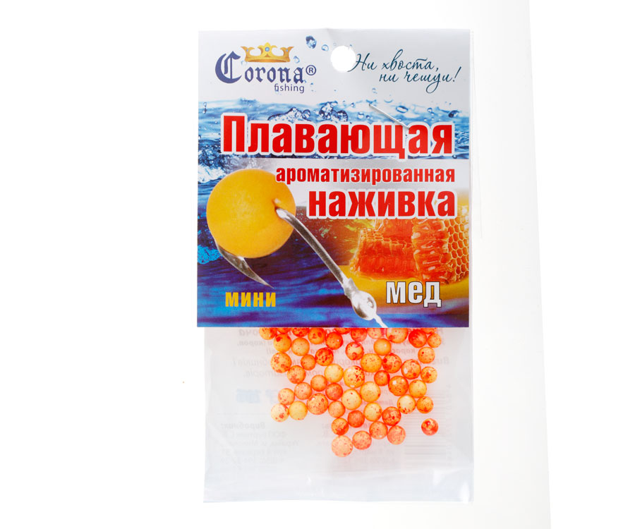 Пенопластовые шарики Corona fishing Мед (мини)