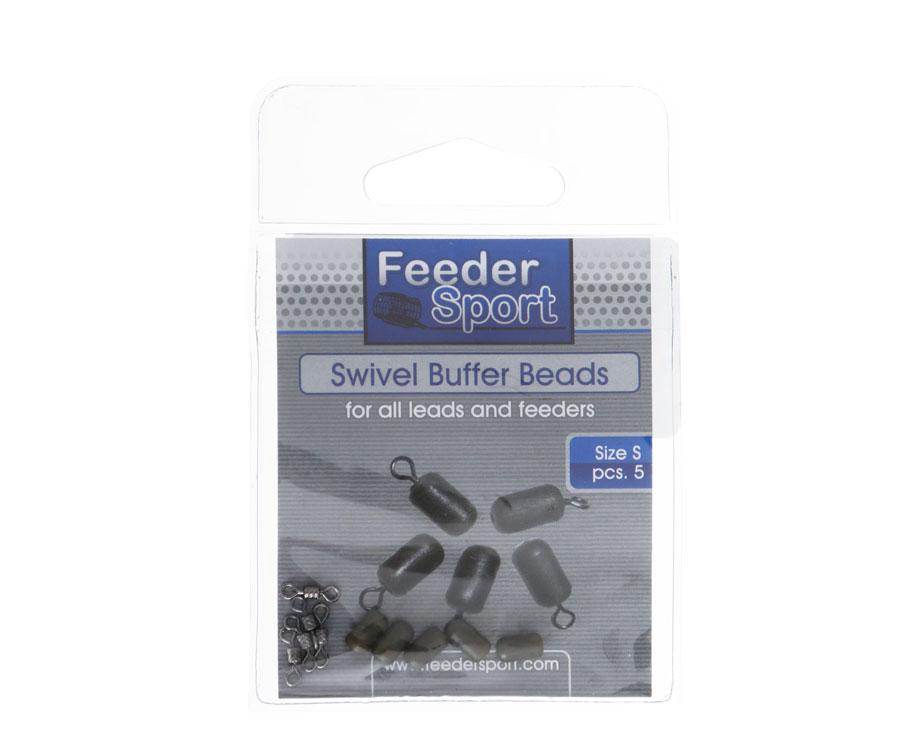 Фидерная бусина с вертлюгом Feeder Sport Swivel Buffer Beads S