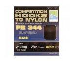 Готовые поводки Preston Competition 344, 0.13 мм 80 см №16