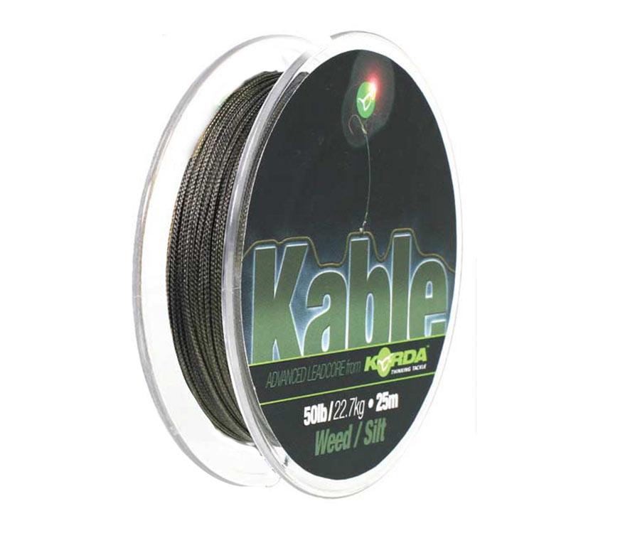 Ледкор Korda Kable Leadcore 25 м Weed Silt