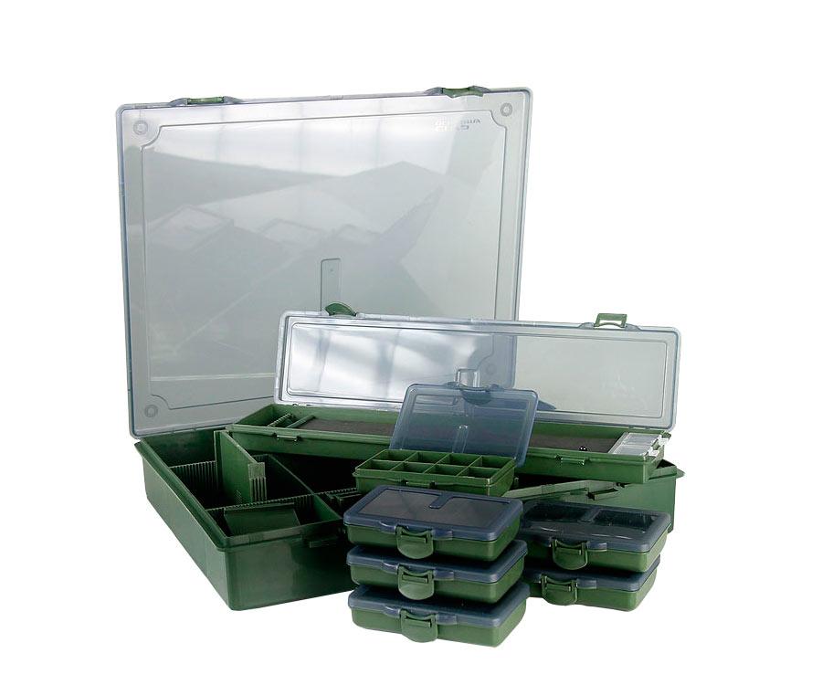 Коробка большая Carp Academy 36Х30см + 6 маленьких коробок + поводочница