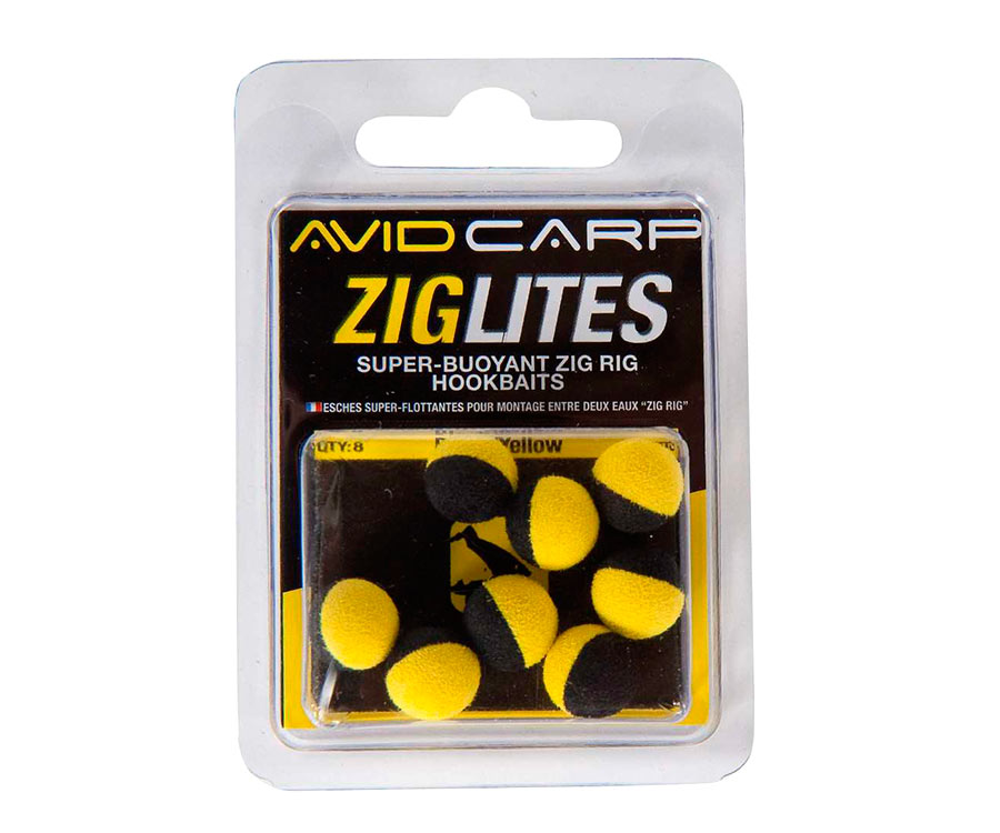 Бойлы искусственные Avid Carp Zig Lities Balls Black/Yellow 10 мм