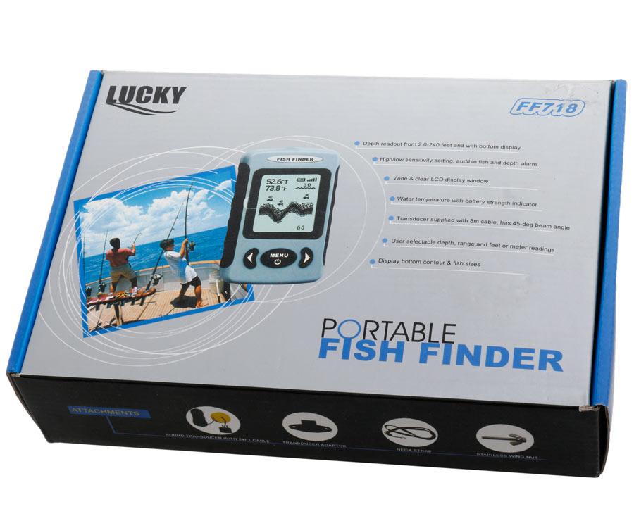 Эхолот Lucky портативный проводной FF 718