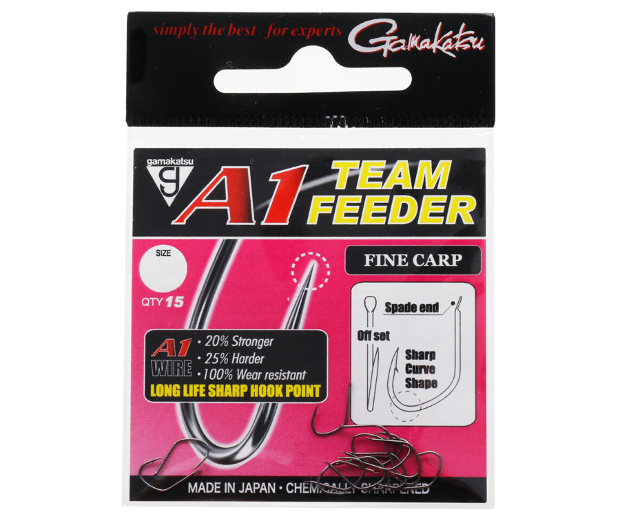 Крючок Gamakatsu A1 Team Feeder Fine Carp №6