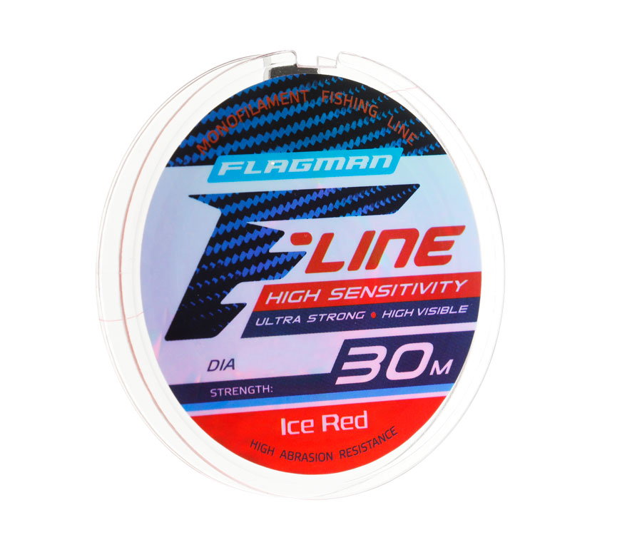 Леска Flagman F-Line Ice Red 30 м, 0,12 мм