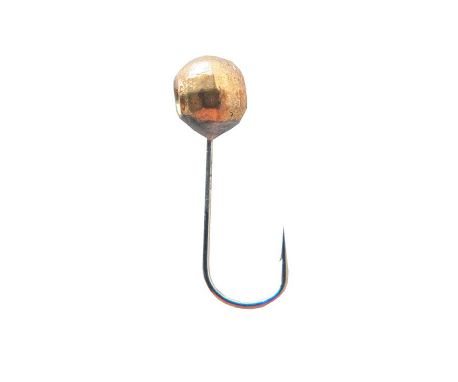 Мормышка вольфрамовая Flagman Дробинка с отверстием граненая d=4 золото