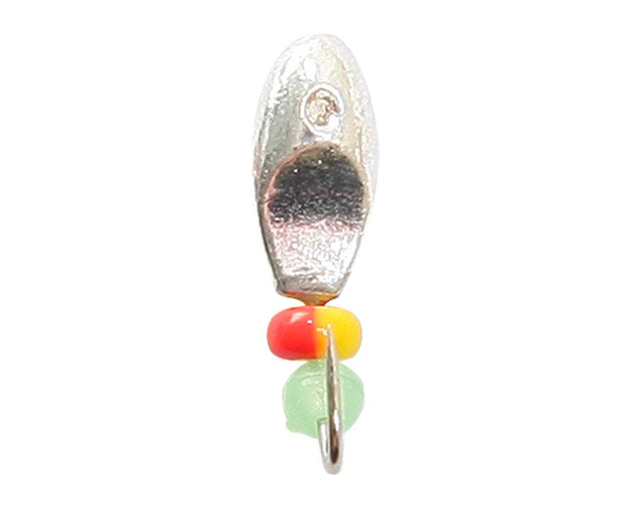 Мормышка вольфрамовая Flagman Овсинка с лыской d=2.5 серебро