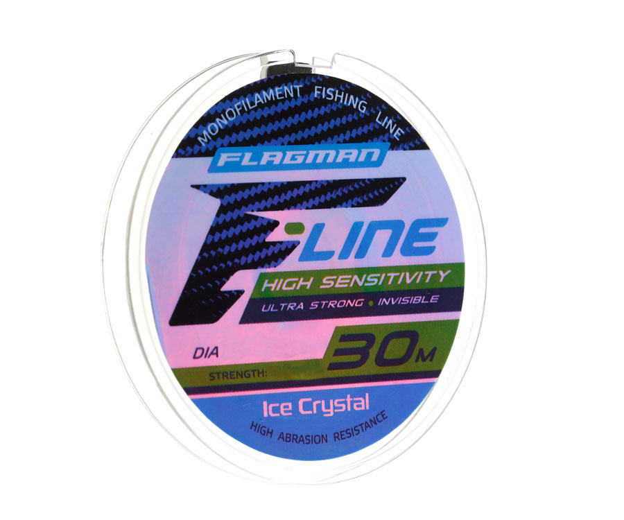 Леска Flagman F-Line Ice Crystal 30 м, 0,12 мм