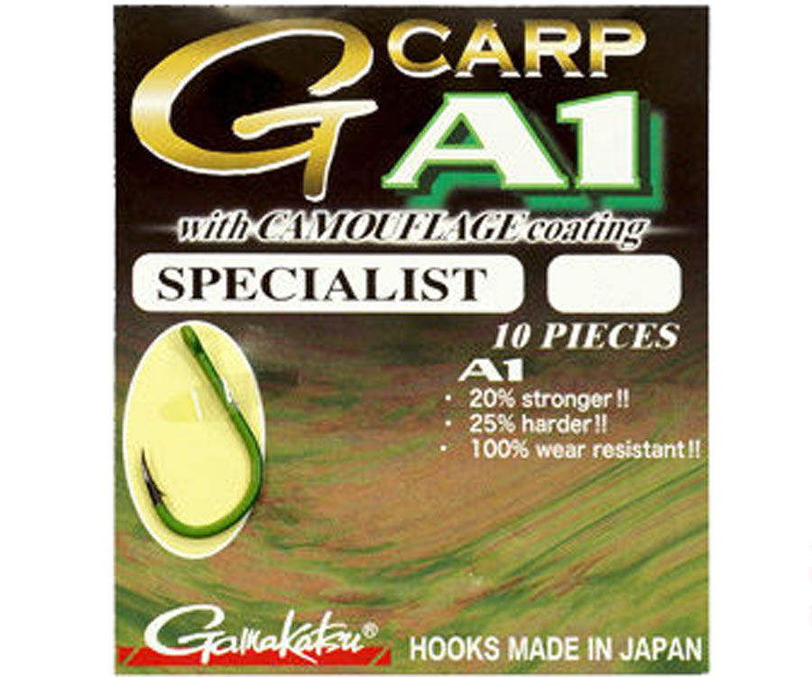 Крючок Gamakatsu G-Carp A-1 Camougreen Specialist №8
