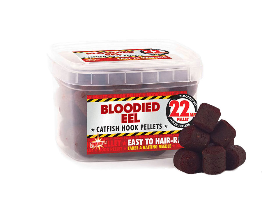 Пеллетс Dynamite Baits Bloodied Eel Hook Pellets 22 мм