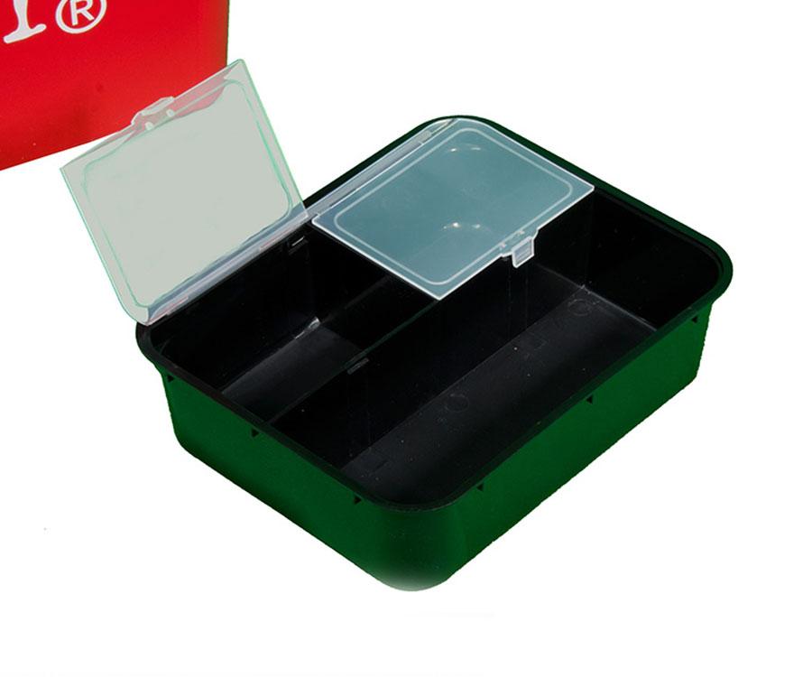 Ящик зимний Lucky John пластиковый высокий 38х26х31.5см