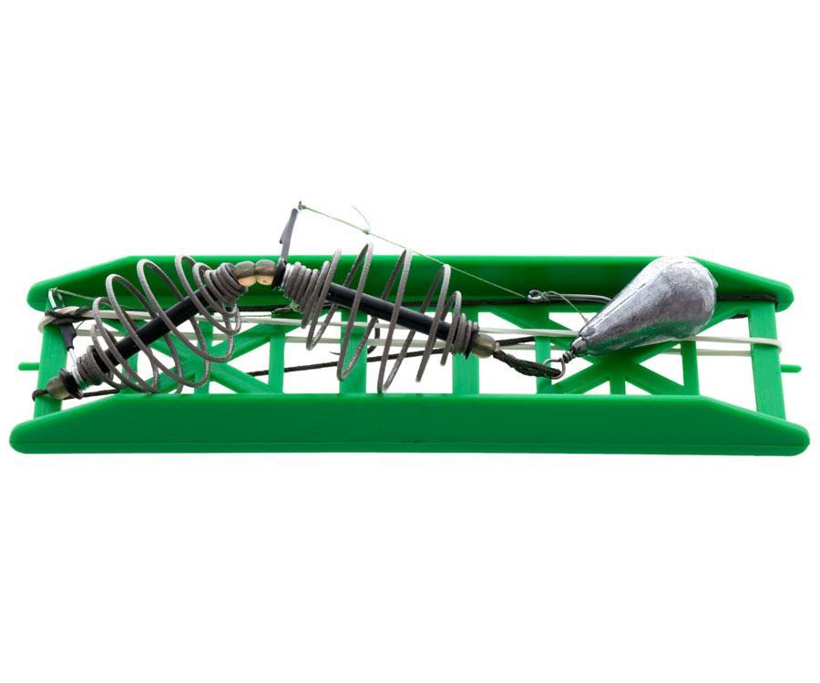Оснастка карп-карась Flagman 2 кормушки 2 крючка №6 на ледкоре 40 г