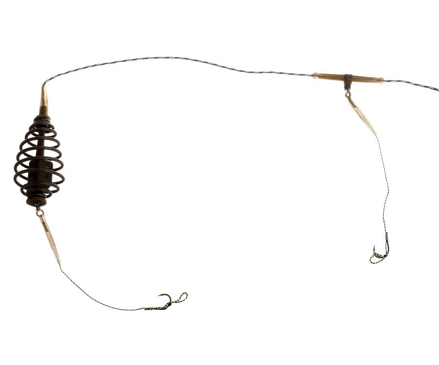 Оснастка Carp Pro Пружина 2 крючка №6 на ледкоре 50 г