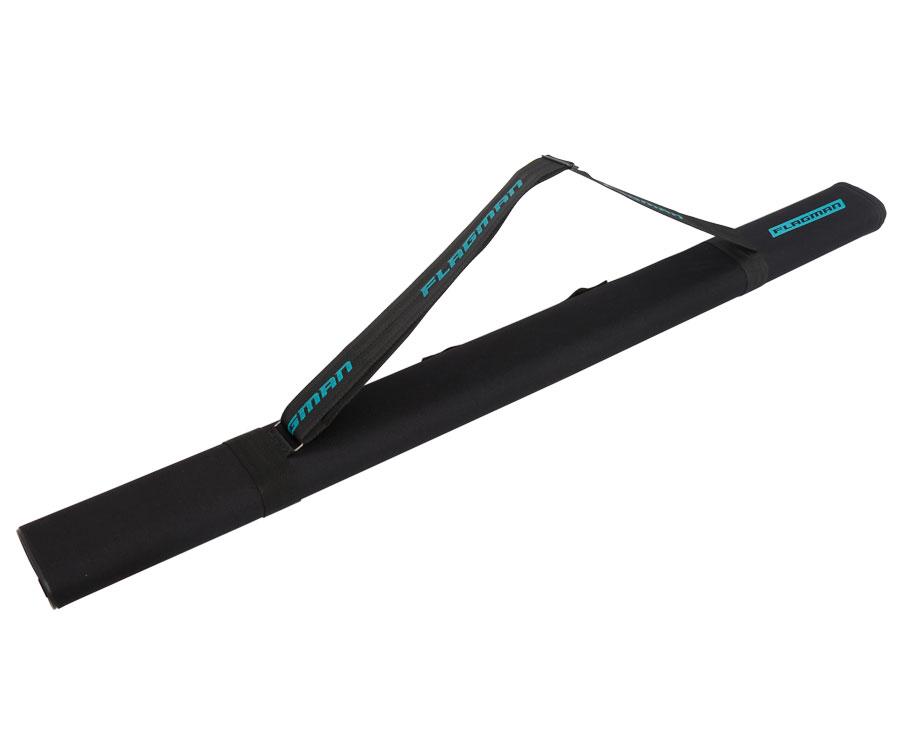 Тубус для удилищ Flagman овальный черный 125х65мм 130cм