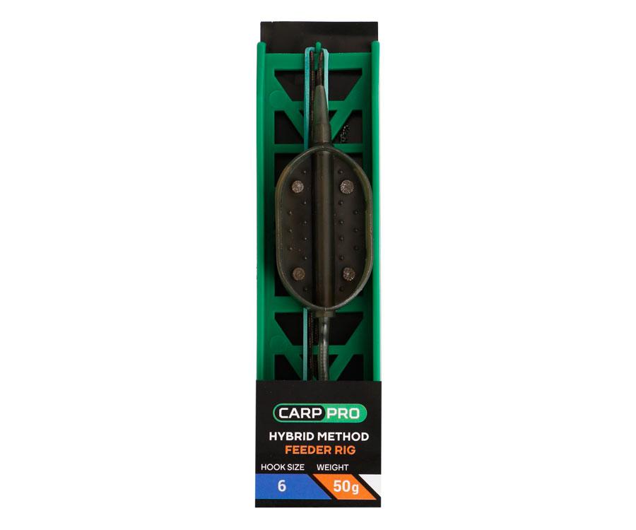 Готовая оснастка на ледкоре Carp Pro Hybrid Method Feeder №6 50 г