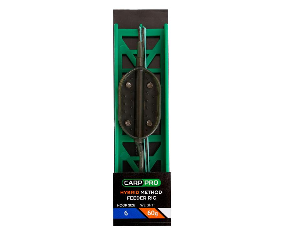 Готовая оснастка на ледкоре Carp Pro Hybrid Method Feeder №6 60 г