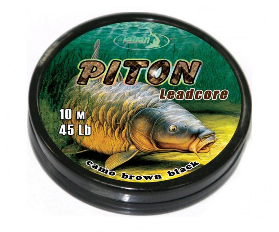 Ледкор Katran Piton 45 lb 10 м Camo коричн./черный