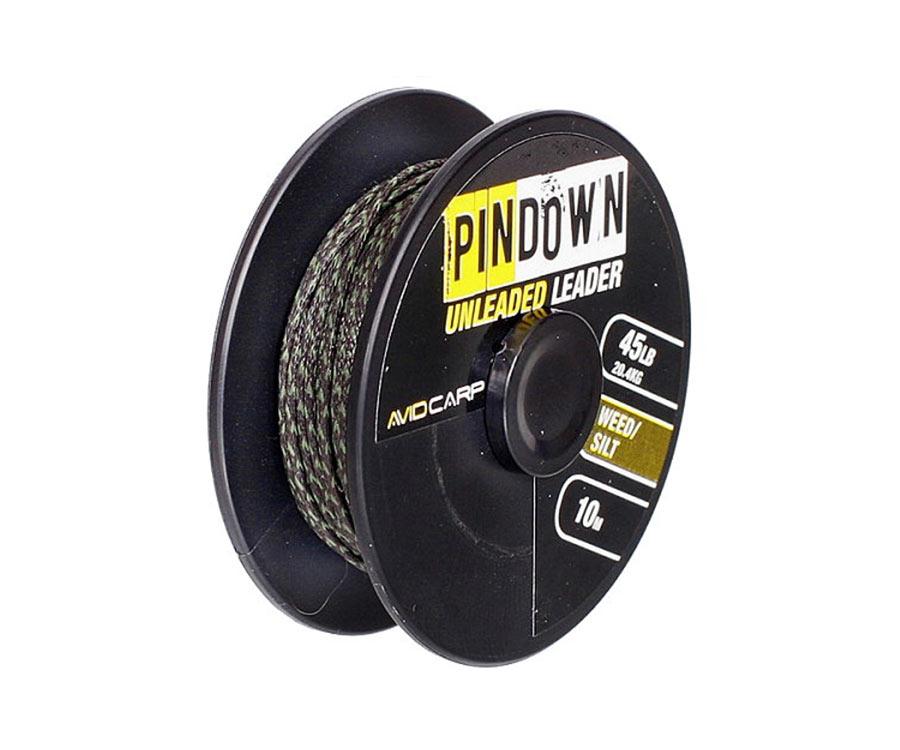 Ледкор Avid Carp Pin Down Leader Weed/Silt 45 lb