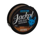 Поводковый материал в оплетке Kryston Jackal Semi-Stiff 20 м 30 lb Brown