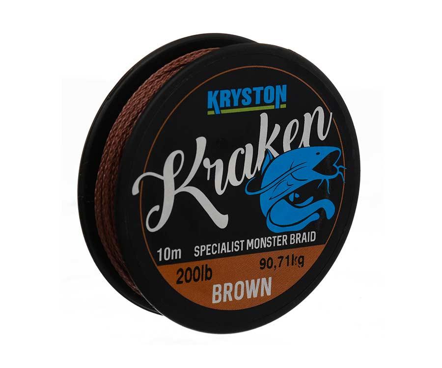 Поводковый материал Kryston Kraken Monster Braid 200 lb 10 м Brown