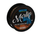 Поводковый материал Kryston Merlin Fast Sinking Supple Braid 15 lb Brown