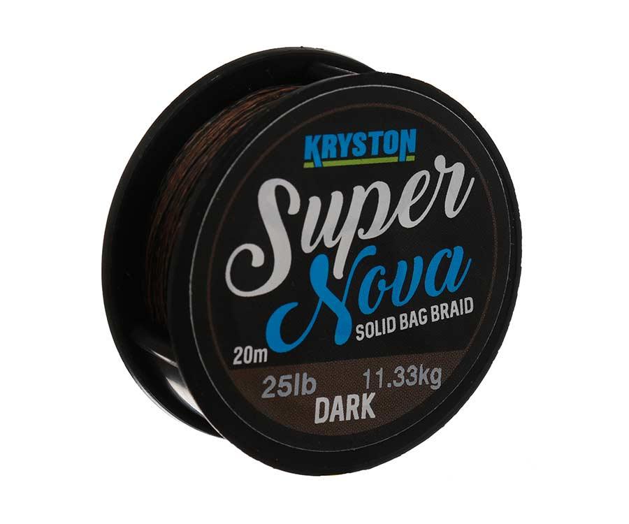 Поводковый материал Kryston Super Nova Solid Bag Braid 25lb 20м Dark