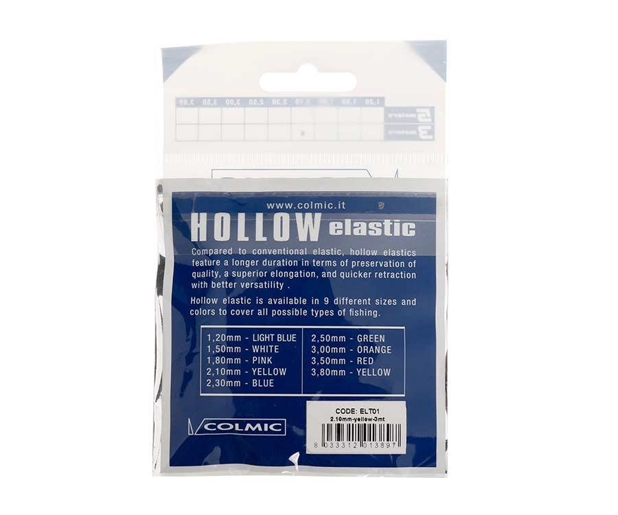Амортизатор для штекера Colmic Hollow Elastic 3 м Yellow 2,1 мм