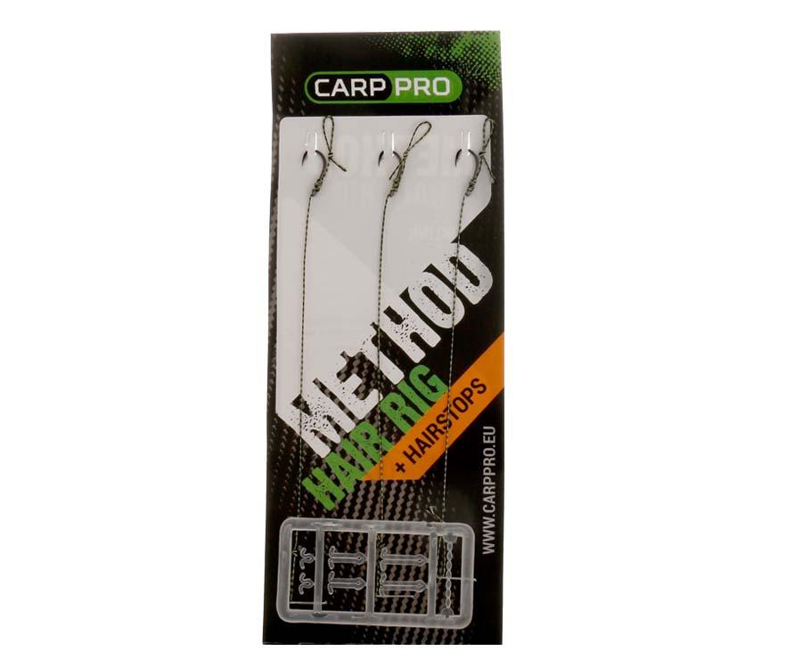 Готовый поводок с крючком Carp Pro Method Hair Rig Hooklink 10 lb №12