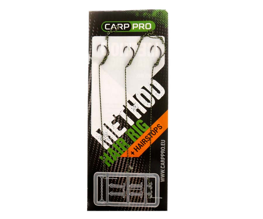 Готовый поводок с крючком Carp Pro Method Hair Rig Hooklink 25 lb №8
