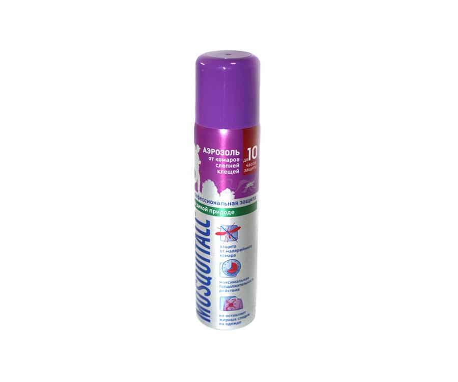 Купить Защита от насекомых, Аэрозоль от комаров и клещей Mosquitall Профессиональная защита 75мл