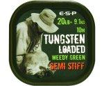 Поводковый материал Esp Tungsten Loaded 20 lb Weed Stiff