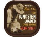 Поводковый материал Esp Tungsten Loaded 20 lb Camo Stiff