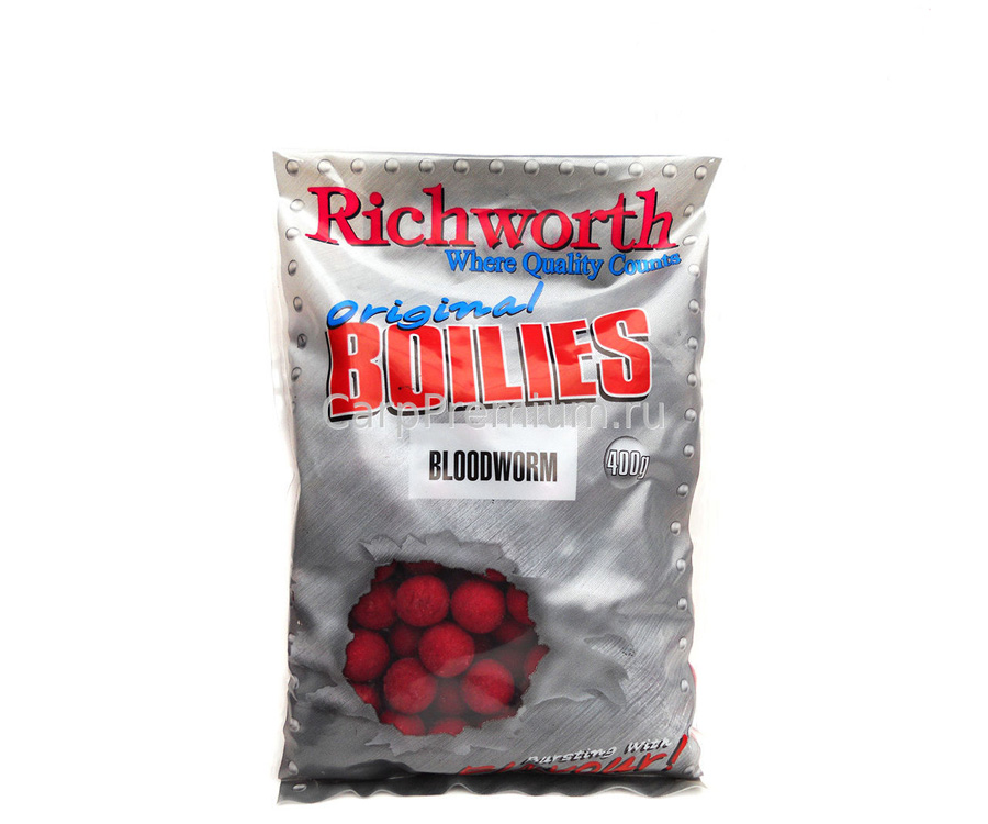 Бойлы Richworth Shelf Life Boilie 14 мм 400 г Bloodworm