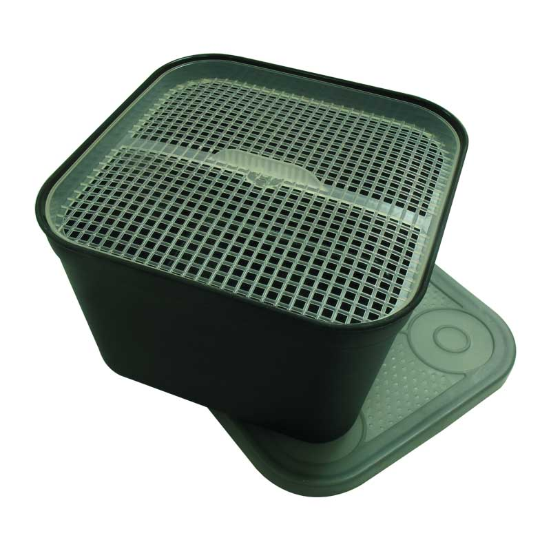 Емкость для насадки с ситом Preston Black Bait Tub 1.8л