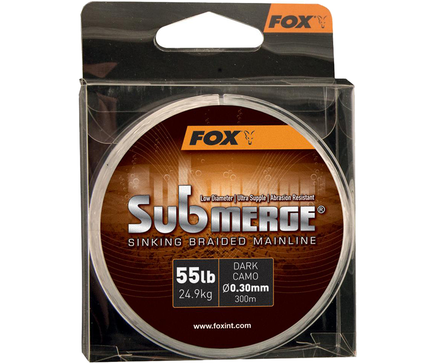 Шнур Fox Submerge Sinking Braided Mainline Dark Camo 0.30мм