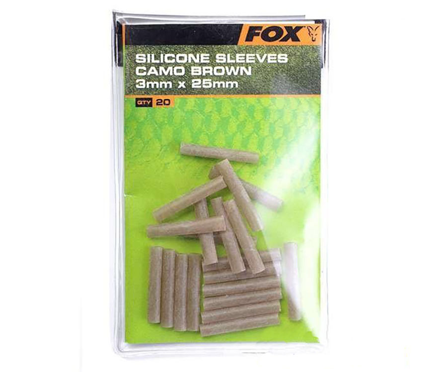 Трубки Fox Silicone Sleeves 3 мм Green