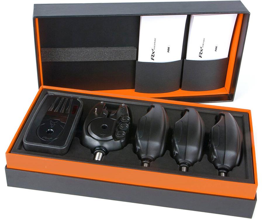 Купить Набор элетронных сигнализаторов поклевки Fox RX+ 4 Rod Presentation Set