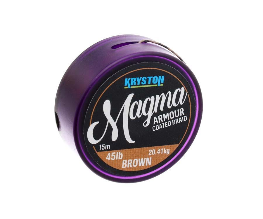 Поводковый материал в оплетке Kryston Magma Armour 45lb Gravel Brown
