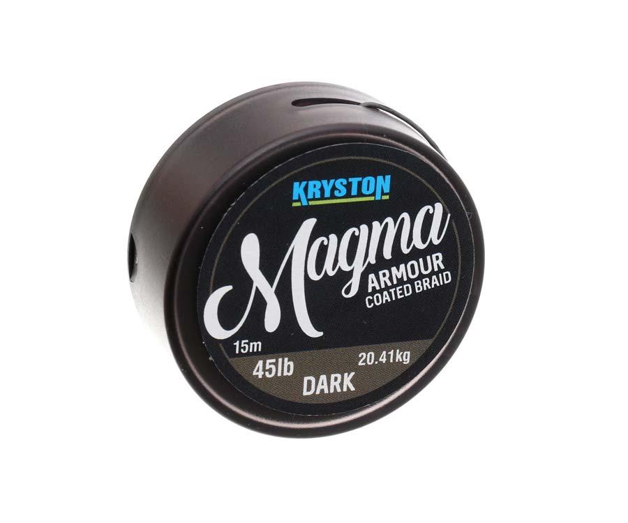 Поводковый материал в оплетке Kryston Magma Armour 45lb Dark Stil