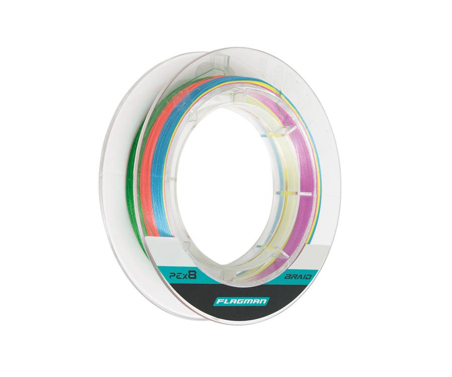 Шнур Flagman Braid PE Multicolor X8 150м 0.148мм