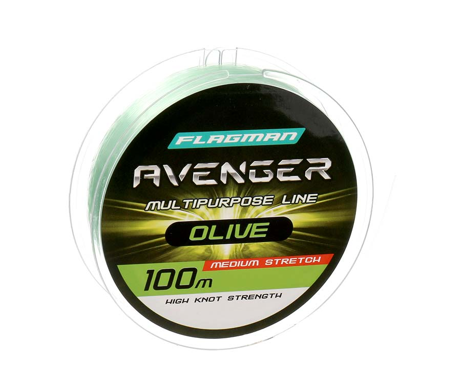 Леска Flagman Avenger Olive Line 100м 0.22мм