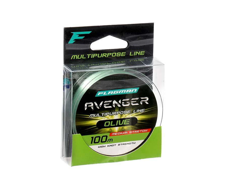 Леска Flagman Avenger Olive Line 100м 0.25мм