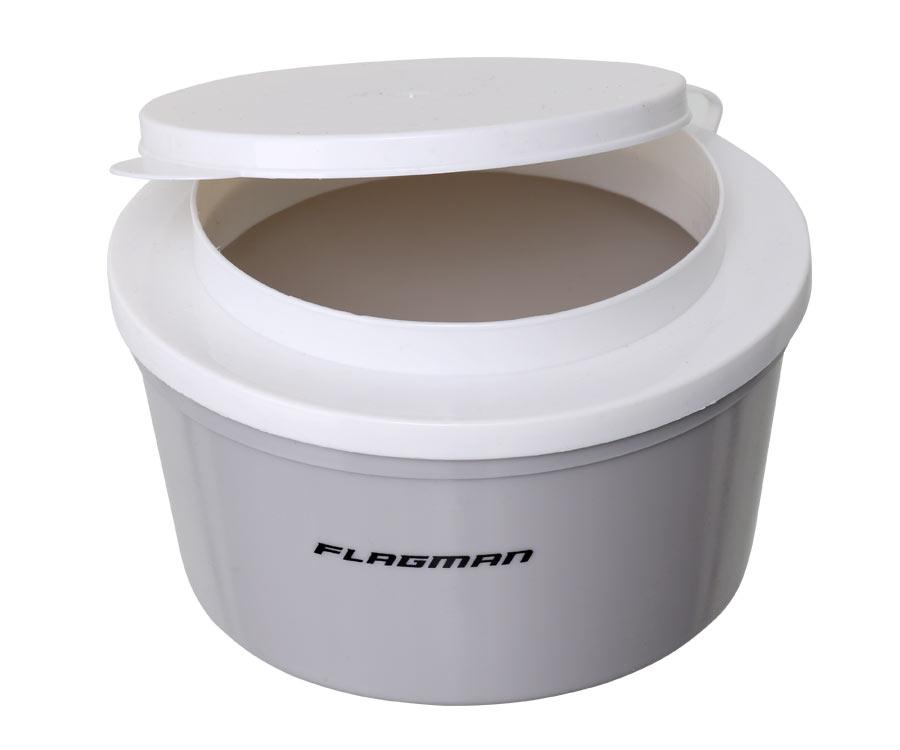Коробка для наживки Flagman круглая 1л
